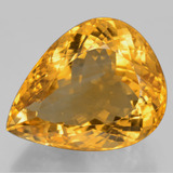 thumb image of 53.7ct Pear Facet Yellow Golden Citrine (ID: 397202)
