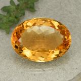 thumb image of 22.7ct Oval Facet Yellow Golden Citrine (ID: 397312)