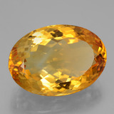 20.54 ct Oval Facet Yellow Golden Citrine Gem 21.43 mm x 15.1 mm (Photo B)
