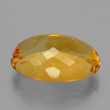 20.54 ct Oval Facet Yellow Golden Citrine Gem 21.43 mm x 15.1 mm (Photo C)