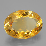 16.58 ct Oval Facet Yellow Golden Citrine Gem 20.80 mm x 15.3 mm (Photo B)