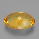 16.58 ct Oval Facet Yellow Golden Citrine Gem 20.80 mm x 15.3 mm (Photo C)