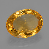 17.29 ct Forma ovalada Deep Orange-Gold Citrina Gema 19.86 mm x 14.9 mm (Foto B)