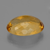 17.29 ct Forma ovalada Deep Orange-Gold Citrina Gema 19.86 mm x 14.9 mm (Foto C)