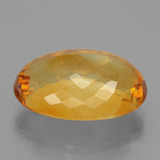 20.82 ct Oval Facet Yellow Golden Citrine Gem 21.71 mm x 14.6 mm (Photo C)