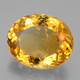 21.65 ct Ovale taille Portugaise Deep Orange-Gold Citrine gemme 20.37 mm x 16.6 mm (Photo B)
