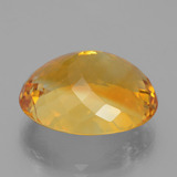 21.65 ct Ovale taille Portugaise Deep Orange-Gold Citrine gemme 20.37 mm x 16.6 mm (Photo C)