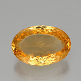 thumb image of 27.8ct Oval Portuguese-Cut Yellow Golden Citrine (ID: 397539)
