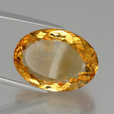 31.89 ct Oval Facet Yellow Golden Citrine Gem 24.62 mm x 17.9 mm (Photo B)