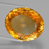 29.91 ct Oval Portuguese-Cut Yellow Golden Citrine Gem 21.99 mm x 18.3 mm (Photo B)