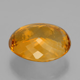29.91 ct Oval Portuguese-Cut Yellow Golden Citrine Gem 21.99 mm x 18.3 mm (Photo C)