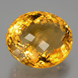 30.29 ct Oval Checkerboard Yellow Golden Citrine Gem 22.10 mm x 18.9 mm (Photo B)