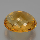 30.29 ct Oval Checkerboard Yellow Golden Citrine Gem 22.10 mm x 18.9 mm (Photo C)