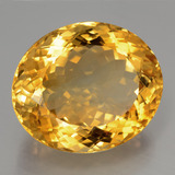 40.16 ct Oval Facet Yellow Golden Citrine Gem 24.71 mm x 21.1 mm (Photo B)
