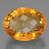 thumb image of 47ct Oval Checkerboard Yellow Golden Citrine (ID: 397572)