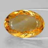 thumb image of 21.5ct Oval Facet Yellow Golden Citrine (ID: 397605)