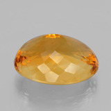 23.96 ct Oval Facet Yellow Golden Citrine Gem 21.04 mm x 16.9 mm (Photo C)