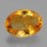 thumb image of 17.4ct Oval Facet Yellow Golden Citrine (ID: 397657)