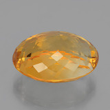 18.18 ct Oval Facet Yellow Golden Citrine Gem 19.33 mm x 14.8 mm (Photo C)