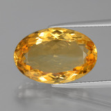 thumb image of 8.6ct Oval Facet Yellow Golden Citrine (ID: 397775)