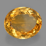 20.61 ct Ovale facette Dark Orange-Gold Citrine gemme 19.84 mm x 16.7 mm (Photo B)