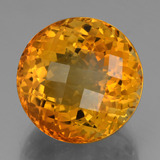 thumb image of 22.6ct Round Checkerboard Yellow Golden Citrine (ID: 397819)