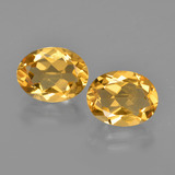 thumb image of 3.1ct Oval Facet Yellow Golden Citrine (ID: 413463)