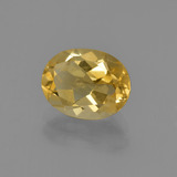 1.72 ct Oval Facet Light Golden Citrine Gem 8.98 mm x 7 mm (Photo B)