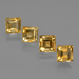 thumb image of 4.2ct Square Facet Yellow Golden Citrine (ID: 423145)