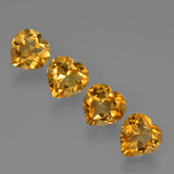 thumb image of 0.9ct Heart Facet Yellow Golden Citrine (ID: 423314)