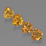 thumb image of 3.6ct Heart Facet Yellow Golden Citrine (ID: 423315)