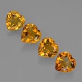 thumb image of 3.8ct Heart Facet Yellow Golden Citrine (ID: 423316)