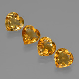 thumb image of 3.5ct Heart Facet Yellow Golden Citrine (ID: 423317)