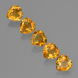 thumb image of 4.8ct Heart Facet Yellow Golden Citrine (ID: 423320)