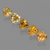 thumb image of 4.5ct Heart Facet Yellow Golden Citrine (ID: 423321)