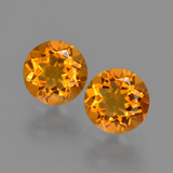 thumb image of 1.6ct Round Facet Yellow Golden Citrine (ID: 426449)
