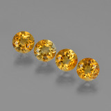 thumb image of 1.9ct Round Facet Yellow Golden Citrine (ID: 426498)