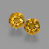 thumb image of 1ct Round Facet Yellow Golden Citrine (ID: 426689)