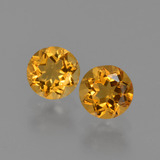 thumb image of 0.9ct Round Facet Yellow Golden Citrine (ID: 426907)
