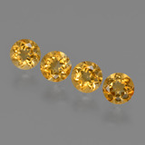 thumb image of 1.9ct Round Facet Yellow Golden Citrine (ID: 426939)