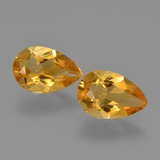 thumb image of 2.1ct Pear Facet Yellow Golden Citrine (ID: 427245)