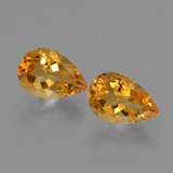 thumb image of 2.3ct Pear Facet Yellow Golden Citrine (ID: 427395)