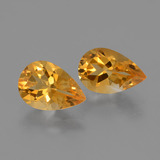 thumb image of 2.3ct Birnen Schliff gelb-gold Citrin (ID: 427396)