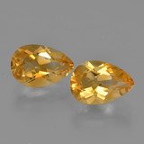 thumb image of 2.6ct Pear Facet Yellow Golden Citrine (ID: 427510)