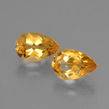 thumb image of 2.5ct Pear Facet Yellow Golden Citrine (ID: 427711)