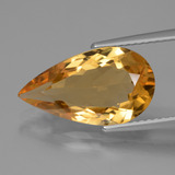 thumb image of 4.5ct Pear Facet Yellow Golden Citrine (ID: 427980)