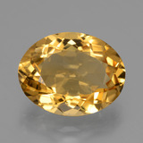 thumb image of 6.5ct Oval Facet Yellow Golden Citrine (ID: 428234)