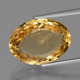 thumb image of 6.6ct Oval Facet Yellow Golden Citrine (ID: 428242)