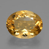 thumb image of 5.3ct Oval Facet Yellow Golden Citrine (ID: 428295)