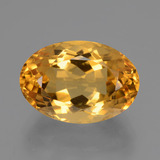 thumb image of 5.1ct Oval Facet Yellow Golden Citrine (ID: 428302)